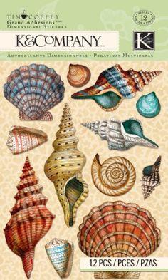 K Tim Coffey Travel Grand Adhesion Stickers, Shell