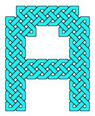 Capital letters as Celtic knot celtic knots, capit letter