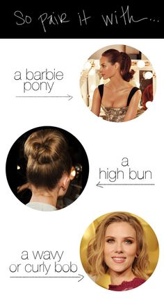 hair style ideas for a pony tail