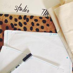 Drafting & lettering in The Atelier studio
