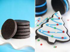 Chocolate Sugar Cookies #christmascookies