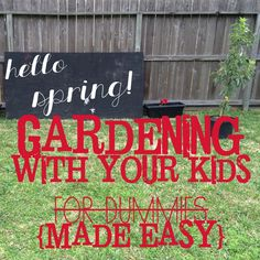Gardening with Your Kiddos