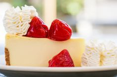 Simply delicious! - Fresh Strawberry Cheesecake!  Enter the #SayCheesecakeContest for a chance to win $4,000! #Spon #NationalCheesecakeDay