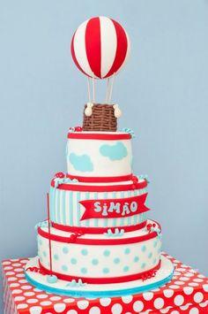Hot Air Balloon themed birthday party
