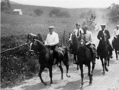 Warren G. Harding, Harvey Firestone, Thomas Edison and Henry Ford Horseback Riding Photographs :: OHS Selections