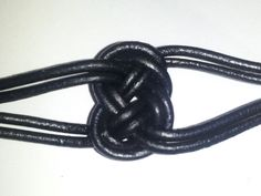 "The "" All tied up in KNOTS "" Collar - Black Leather - BDSM - Unique         Item ( 01 ). $30.00, via Etsy. collar, knotti stuff"
