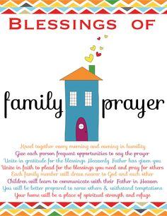 Lesson 16:  Family Prayer   The Red Headed Hostess: Free Printable about Family Prayer!