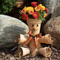 Mary Maxim Inc. Clay Pot Scarecrow Craft Kit