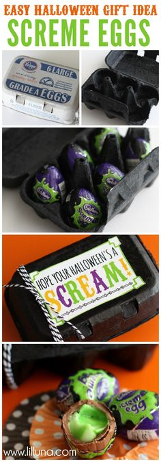 Easy Halloween Gift Idea with Screme Eggs!