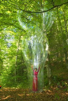 performance art meets inflated sculptures by victorine müller