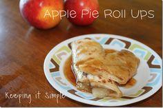Keeping it Simple: Apple Pie Roll Ups