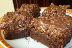Chocolate Frosted Chocolate Brownies
