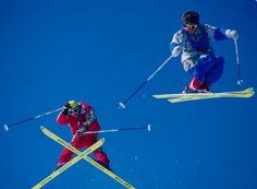 There's nothing QUITE like dayglow ski gear to bring us back to 1985.