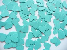Tiffany blue hearts