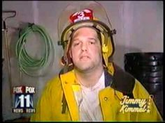 Stoned fireman on the news. This is absolutely HILARIOUS!! hahaha laugh box, thing worth, stone fireman, jimmi kimmel, worth share, sort video