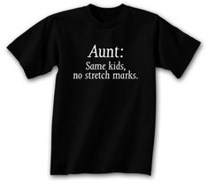Thoughtful Gifts for Aunts from Children...yup!