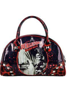 "Women's ""Bloodbath"" Bates Handbag by Too Fast (Black/Red) #InkedShop #purse #handbag #bag #style #fashion #accessories"