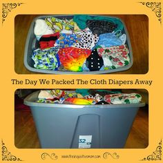 The Day We Packed the Cloth Diapers Away - The Inquisitive Mom