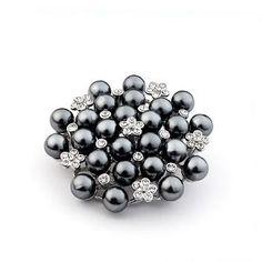 PINKSTIX Grey Pearl Brooch ~ mirellas.ca