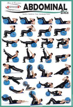 Abdominal exercises w/ball