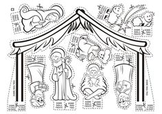 free printable nativity for the kids to color
