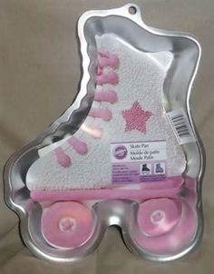 birthday parties, skate parti, birthday idea, roller skate birthday cakes, roller derbi, roller derby, cake pans