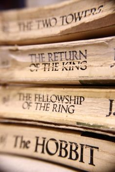 This how our Lord of the Rings Books Look, after my Dad read them to all of us at different times.  Soon he will need to read them to his Grandsons!!!