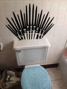 Muahahah! Game of (Porcelain) Thrones -love the touch of softness with the blue cover, lol.
