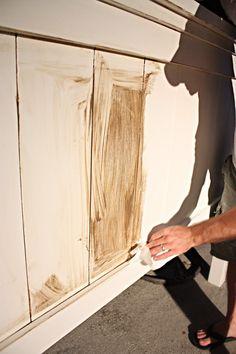 how to glaze furniture