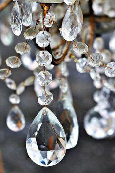 antique glass, tassel, crystal, light