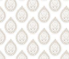 Mumbai in khaki fabric by domesticate on Spoonflower - custom fabric