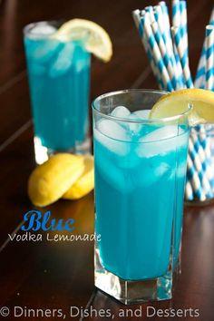 Blue Vodka Lemonade.