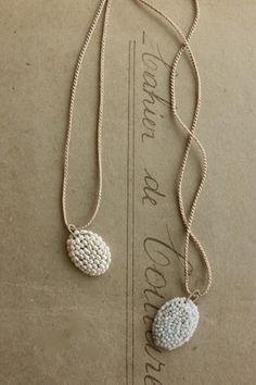 crochet necklace, bead crochet