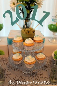 dessert tables, graduation cupcakes, cupcake stands, high school graduation, table toppers, grad parties, cake pops, flower pots, graduation parties