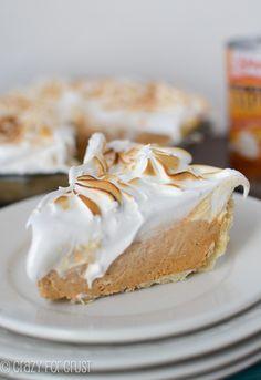 Frozen Pumpkin Meringue Pie | crazyforcrust.com | The BEST meringue I've ever had!