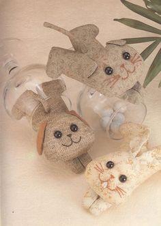 Coelhinhos divertidos vão deixar a sua casa bem alegre e despojada. As crianças vão adorar!