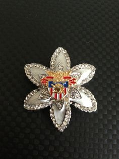 West Point - United States Military Academy Crest on Silver Brooch Pin, In Stock, Ready to ship - Soldier, Cadet, Army, USMA on Etsy, $38.00