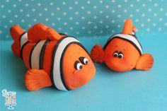 Fondant Clown Fish Fondant Cake Topper by Sugar High, Inc.