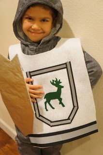 Super easy no-sew felt knight costume