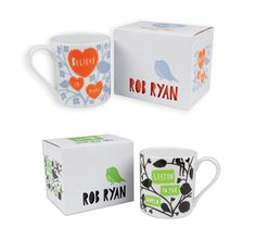 the mugs are beautiful. the packaging is ridiculous. Rob Ryan paper cut mugs!