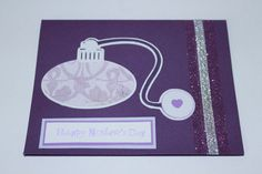 Happy Mother's Day perfume bottle handmade card by AnLieDesigns, $2.00