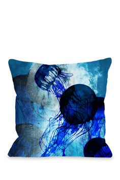 Electric Swim Blue Pillow
