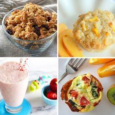 look at peach and pumpkin muffins.  Breakfast Ideas | 26 Best Breakfast Recipes for Kids #BreakfastRecipe #Smoothie
