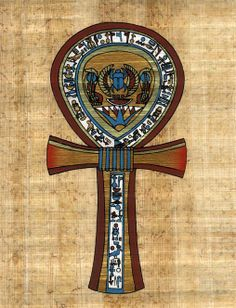 The Ankh is the symbol of the imperishable vital force of life.  It depicts three symbolic principles found in creation: 1. the circle (female member) 2. the cross (male member) and 3. unity (the male member united with that of the female).  Life literally occurs as a result of the union of spirit and matter, the circle representing the immortal and eternal part (absolute reality) and the cross representing that which is mortal and transient (illusion-matter).