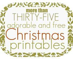 free Christmas printables!