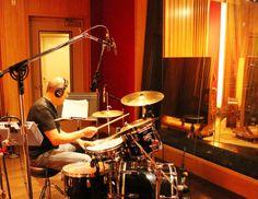 Joe Cortini of The Cortini Brothers on drums