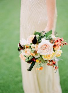 #Bouquet | See the Inspiration on #SMP Weddings: http://www.stylemepretty.com/2013/07/22/art-deco-shoot-diy-from-oak-and-the-owl/