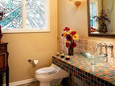 Powder Room Designs : Home Improvement : DIY Network