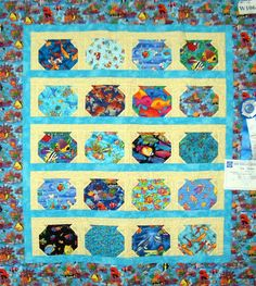 A fishbowl quilt, a variation of the bug jar quilt. This could be fun too. jar quilts, fish bowl, school auction, fish quilt, bug jar quilt, quilts i want to make, fishbowl quilt