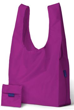 I love my Baggu's - they're reusable bags & machine washable that can hold 3xs the amount that regular grocery bags can hold -  up to 50lbs!   http://rstyle.me/~1fmO5